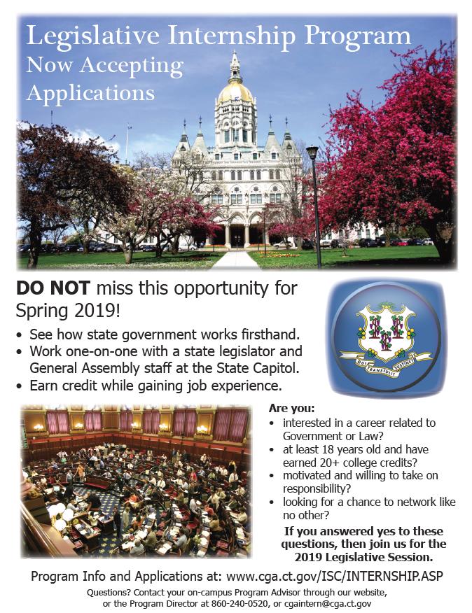 CGA Legislative Internship Program Accepting Applications