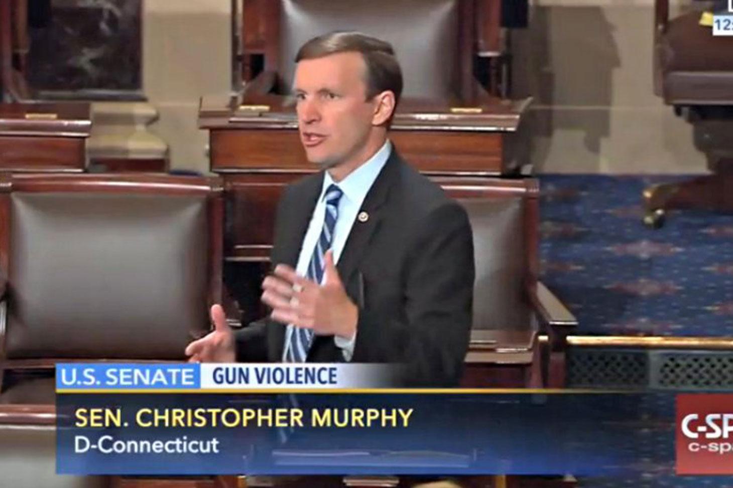 Sen. Murphy speaking on the Senate floor