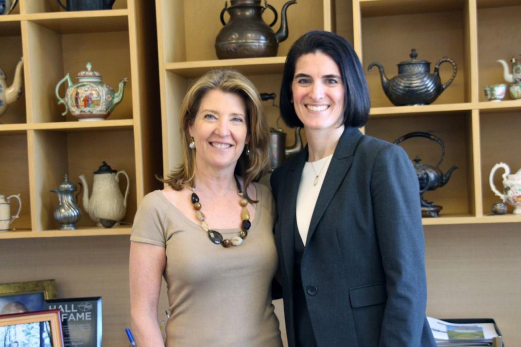 Rep. McCarthy Vahey with Cindi Bigelow