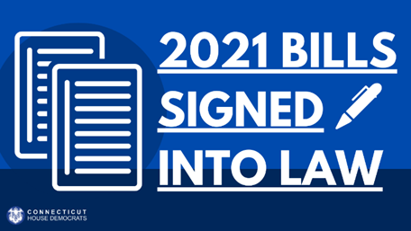 2021 Bills Signed Into Law